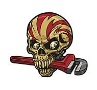 Skull with a Tool Pattern Decorative Car Sticker