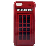 Hard Case Red Telephone Box Pattern for iPhone 5C