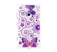 For Nokia Case Pattern Case Back Cover Case Butterfly Soft TPU Nokia Nokia Lumia 520