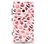 Candy Cake Pattern TPU Soft Case for Nokia Lumia N520