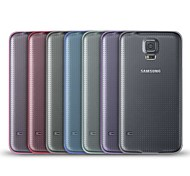 Angibabe 0.45mm Transparent Jelly TPU Soft Cover Clear Case for Samsung Galaxy S5/i9600