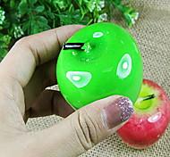 Lifelike Green and Red Apple Design Wedding Candles(Random Color)