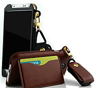 Protective PU Leather Lanyard Wallet Case with Stand for S4 i9500(Assorted Color)
