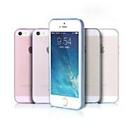 MuRexa ультра тонкий 0,3 мм Прозрачный Ultra Clear мягкий силиконовый чехол ТПУ задняя крышка для iPhone 5/5S с розничной упаковке