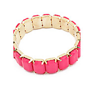 Alloy Acrylic Candy Color Bead Connected Bracelet(Assorted Colors)