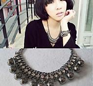 Fashion Black Balls Alloy Statement Necklace (1 Pc)