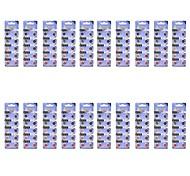 TianQiu AG12 / 386A / LR43 1.55V Alkaline Cell Button Battery - Silver (20 Packs / 200 PCS)