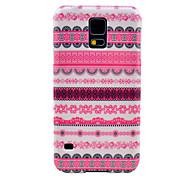Pink Flower Tattoo Teppich Muster Hard Case für das Samsung Galaxy i9600 S5