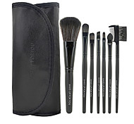 Make-up For You 7Pcs Artificial Fibre Black Eyeshadow Makeup Brush Set