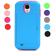 High Impact Credit Card Wallet Combo Stand Case Cover for Samsung Galaxy S4 i9500