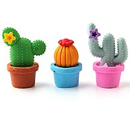 efectos de escritorio lindos escuela goma de borrar cactus (12-pack) \