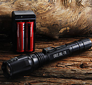 LED Flashlights/Torch / Handheld Flashlights/Torch LED 1 Mode 400 Lumens Adjustable Focus Cree XR-E Q5 18650 / AACamping/Hiking/Caving /
