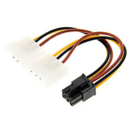 4 Pin Molex to 6 Pin PCI-E Power Adapter (12cm)