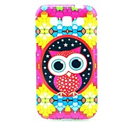 Diamond Puzzle Pattern Owl Soft Case para Samsung Galaxy I8552 Win