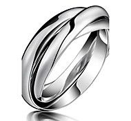 Ms Are Various Three-ring Clasped Titanium Steel Ring Gift