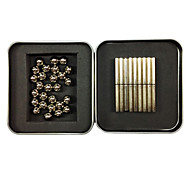 36PCS Silver Magnet Sticks+27PCS Silver Magnet Balls with Metal Box