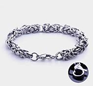 Mode Personalisierte Geschenke Handgefertigte Edelstahlschmuck Gravur Chain Link Armbänder 0,8 cm Breite