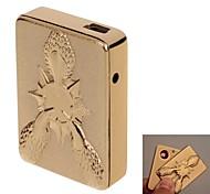 USB sigaretta ricaricabile antivento in lega di alluminio accenditore elettronico (colori assortiti)