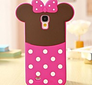 Lovely Pink Bowknot 3D Silikon-Telefon-Kasten für Samsung i9500 Galaxy S4