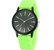 Unisex Black Dial Candy Color Silicone Band Quartz Wrist Watch(Assorted Colors)
