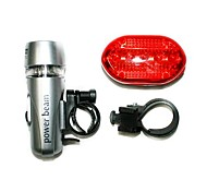 Bicycle Bike Safety Warning 5 LED Headlamp and Rear Tail Light Set with 2 Mount
