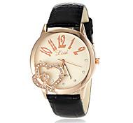 Women's Unique Design Round Dial PU Band Quartz Analog Fashion Watch (Assorted Color)