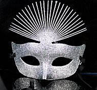 Luxurious Glitters Silver PVC Holiday Half-face Mask