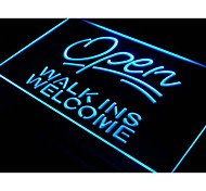 Open Walk Ins Welcome Barber Shop NEW Light Sign