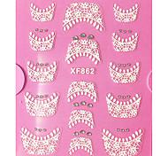 3D strass Dentelle française Nail Art Stickers XF No.862