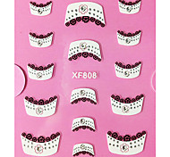 Motif 3D Fleur strass Dentelle française Nail Art Stickers XF
