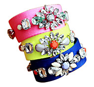(1 Pc)Fashion 22cm Women's Multicolor Fabric Friendship Bracelet(Yellow, Blue, Pink)
