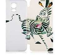 Zebra-Muster PU-Leder-Ganzkörper-Case für Samsung Galaxy i9600 S5
