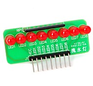 DIY  8-LED Red Light Strip Microcontroller Module for (For Arduino)