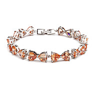 Fashion Bow Multi-slice Colorful Crystal Bracelet