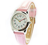 Children's Casual Style PU Band Quartz Wrist Watch (Assorted Colors)