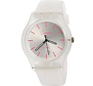 Жен. Модные часы Наручные часы Повседневные часы Кварцевый Цветной силиконовый Группа Повседневная Черный Белый Синий Розовый Фиолетовый