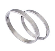 Fashion  Stars Couple  Silvery -grey  316L Stainless Steel Bangle