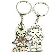 (A pair)Male Beauty Interesting High-grade Stainless Steel Keychain Symbol of Love