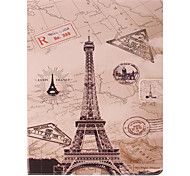 Eiffel Tower Design PU Full Body Case with Stand for iPad 2/3/4