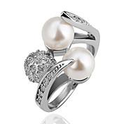 Anneaux ( Alliage/Imitation de perle ) Soirée/Quotidien/Casual