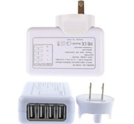 4 USB Hubs Detachable Indoor Wall Charger for iPhone 6 iPhone 6 Plus/iPad and Others (5V 2.1A , U.S. Plug)