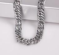 eruner®unisex argento 7 millimetri collana a catena No.114