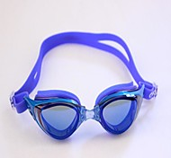 Adult Adjustable Mirror Swimming Anti Fog and Anti Ultraviolet with Earplugs Blue