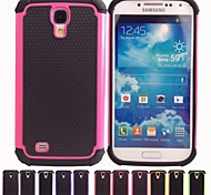 Two-in-One Football Grain Design PC and Silicone Case for Samsung Galaxy S4 I9500