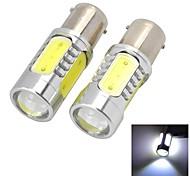 Marsing 1156 8W 700lm 7000K 4-COB LED Cool White Light Car Headlamp  Foglight - (12V  2 PCS)