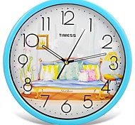 "Timess™ 12""H Home Super Mute Metallic Wall Clock"