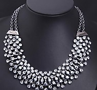 Women's Ultra-luxury Flash Transparent Crystal Diamond Necklace