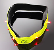 3 pcs Nylon fastener tape Reflective and Flashing Lights Armband/Strap for Cycling