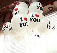 100PCS 30 centímetros 12'' Big Pérola balão de látex Enquanto Festa de Casamento Natal Cor EU TE AMO palavras Propos