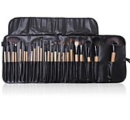24PCS Makeup Brushes Cosmetic Eyebrow Lip Eyeshadow Brushes Set with Case